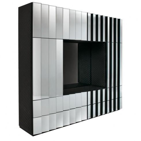 Một chiếc tủ TV sành điệu và tiện lợi sẽ rất hợp với một căn phòng màu xanh.