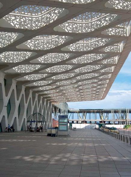 Họa tiết trên mái nhà, sân bay Marrakesh