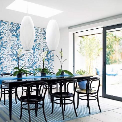 Trang trí nội thất xanh dương và trắng ellevn 5