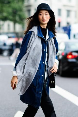 Áo khoác thống lĩnh street style tuần lễ thời trang London 2017
