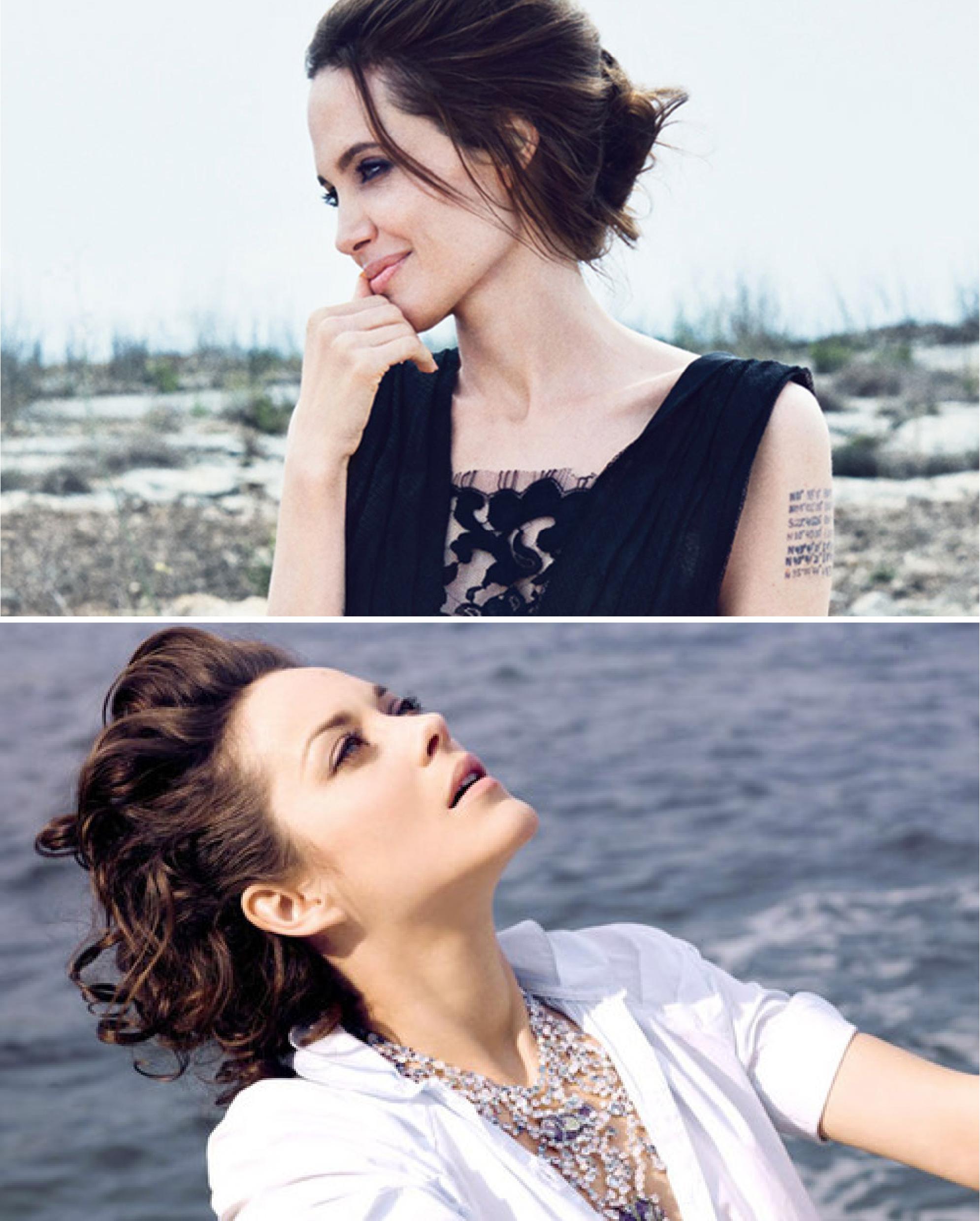 5 điểm giống nhau giữa Angelina Jolie và Marion Cotillard
