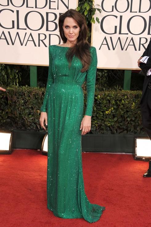 Xuất hiện sang trọng và quý phái với đầm Atelier Versace tại Golden Globe Awards 2011