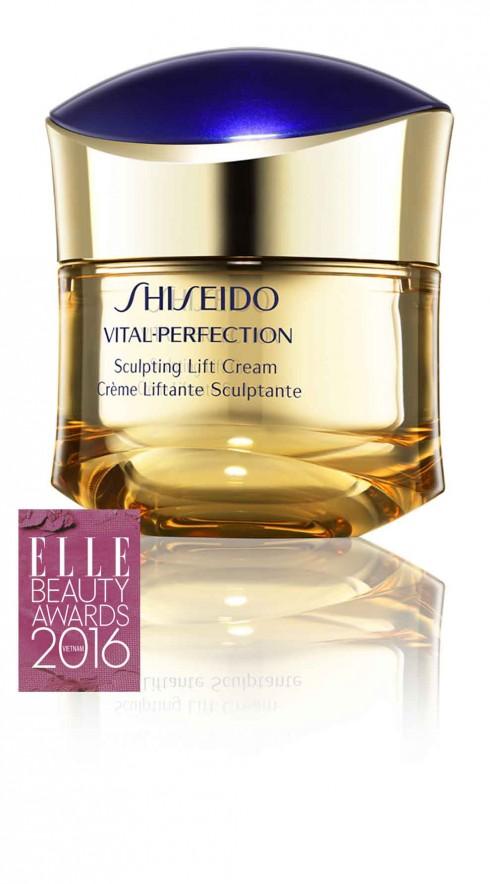 4. SHISEIDO VITAL-PERFECTION SCULPTING LIFT CREAM Kem dưỡng chống lão hóa đa năng Shiseido Vital-Perfection Sculpting Lift Cream cải thiện làn da thâm nám sạm màu đồng thời chăm sóc làn da chảy xệ để mang lại đường nét V-line tươi trẻ. Làn da trông ẩm mượt, căng đầy với vẻ rạng rỡ hoàn hảo.  Giá: 5.300.000 VNĐ