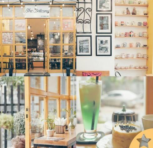 Cà phê Hà Nội The Balcony Bakery & Coffee.
