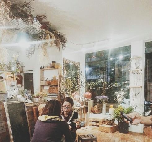 Cà phê Hà Nội Amélie Flower Cafe Shop.