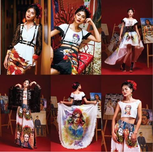 Hoang Dung Tu - London College of Fashion Design - Bài dự thi đạt 2000 Like trên Fan Page ELLE Việt Nam