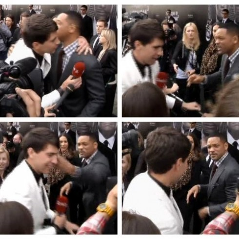 Tháng 5/2012, Vitalii Sediuk chạy đến hôn môi tài tử Will Smith trong buổi quảng bá phim Men in Black 3 khiến cho nam diễn viên vô cùng tức giận