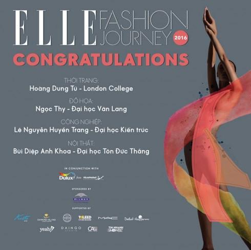 Giải chung cuộc ELLE Fashion Road Trip 2016