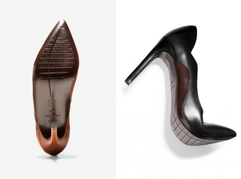 Chi tiết khắc dưới đế giày giúp tăng độ bám, giảm trơn trượt