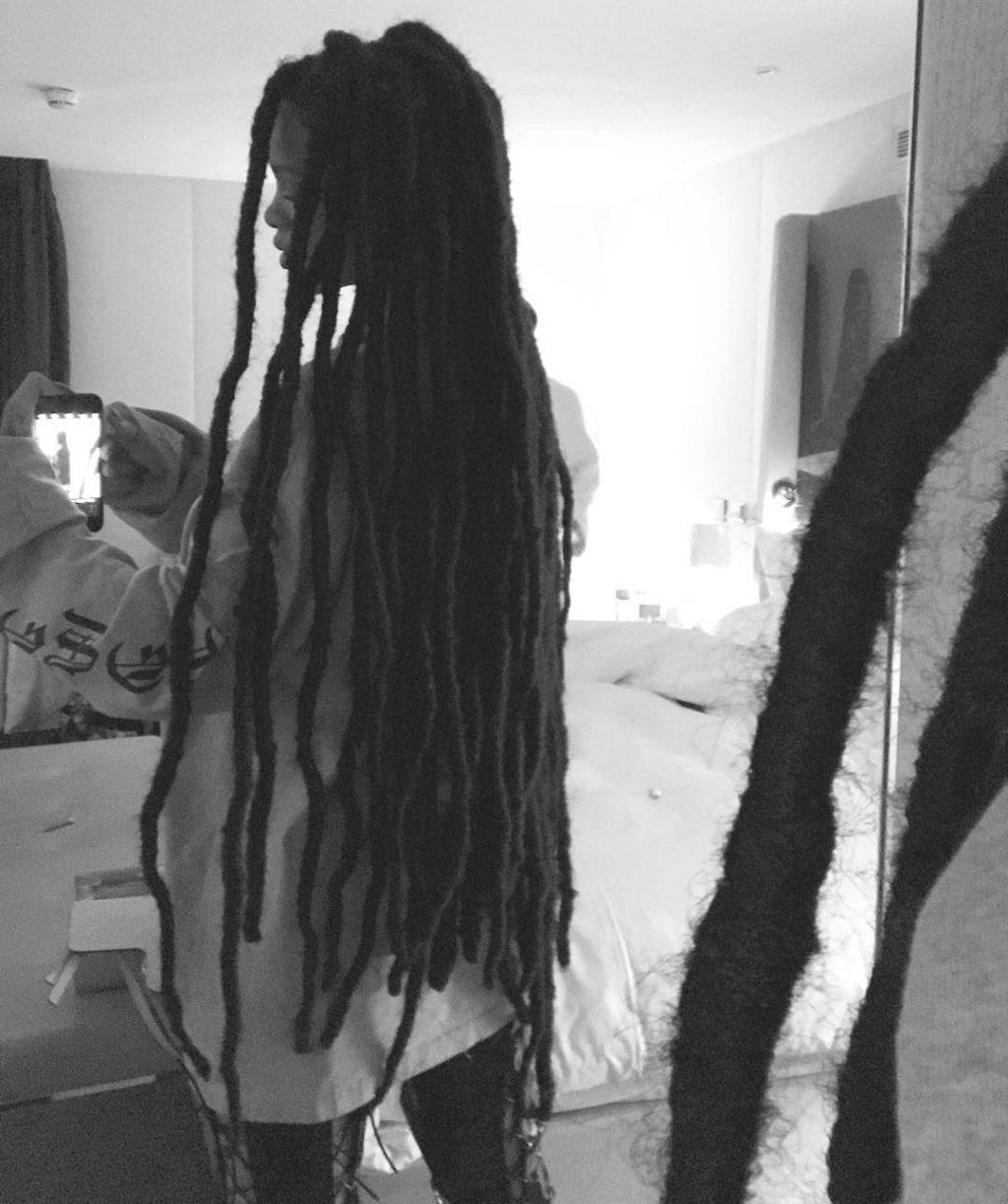 Rihanna - kiểu tóc đẹp dreadlock trên Instagram