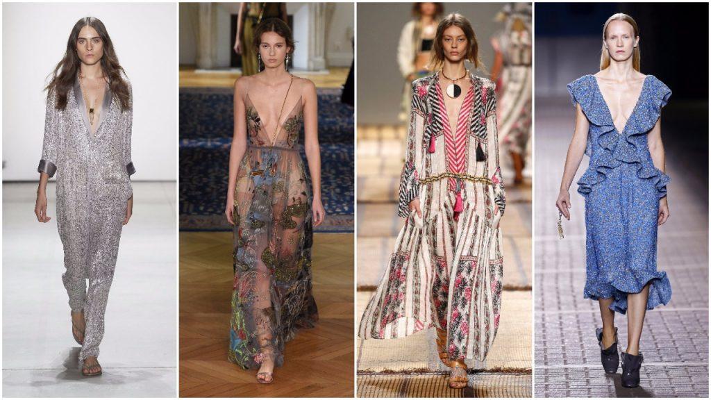 Erin Fetherstone (New York), Valentino (Paris), Etro (Milan) và Mulberry (London)