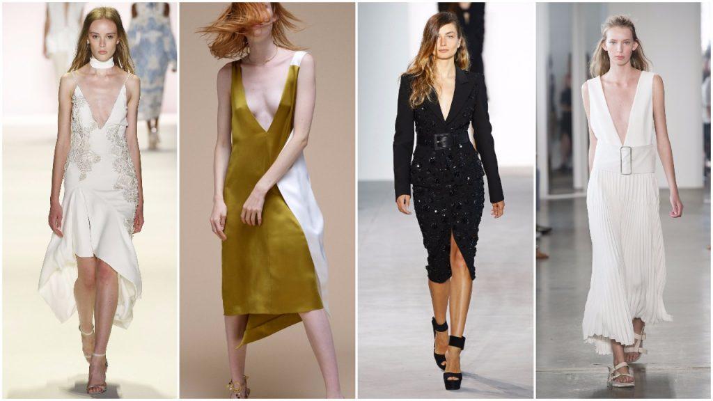 Những chiếc váy với phần cổ xẻ sâu từ Tuần lễ thời trang New York