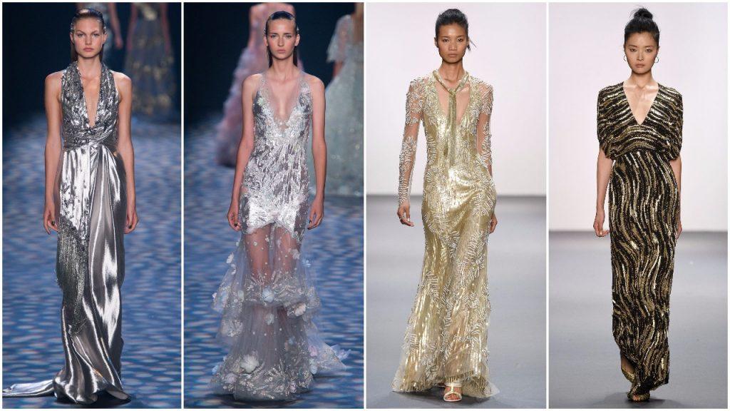 Những chiếc váy ánh kim tuyệt đẹp từ Tuần lễ thời trang New York