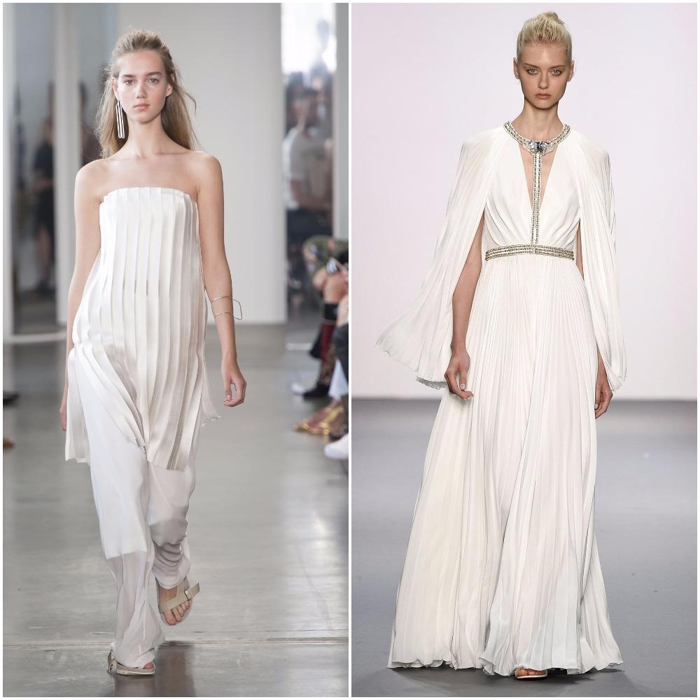 Những chiếc váy trắng xếp li từ Tuần lễ thời trang New York