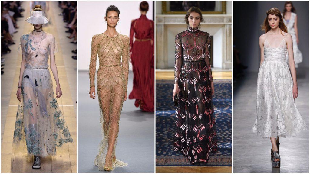 Những chiếc váy xuyên thấu với ngực trần táo bạo cho mùa Xuân-Hè 2017