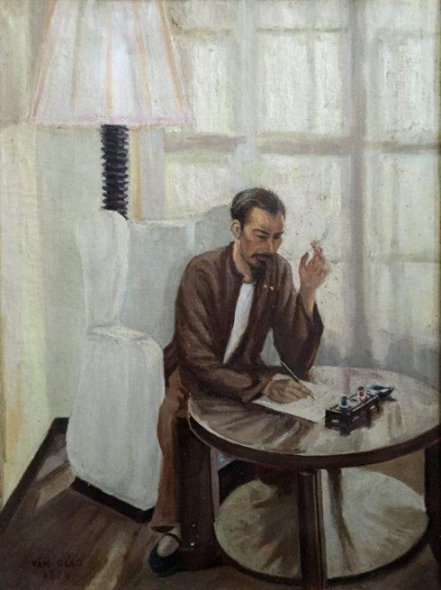 Họa sĩ Văn Giáo được biết đến là một tác giả hầu như dành chọn cả đời cho đề tài Bác Hồ.