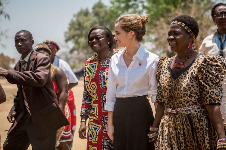 Emma Watson có mặt tại châu Phi vừa qua để hoạt động từ thiện