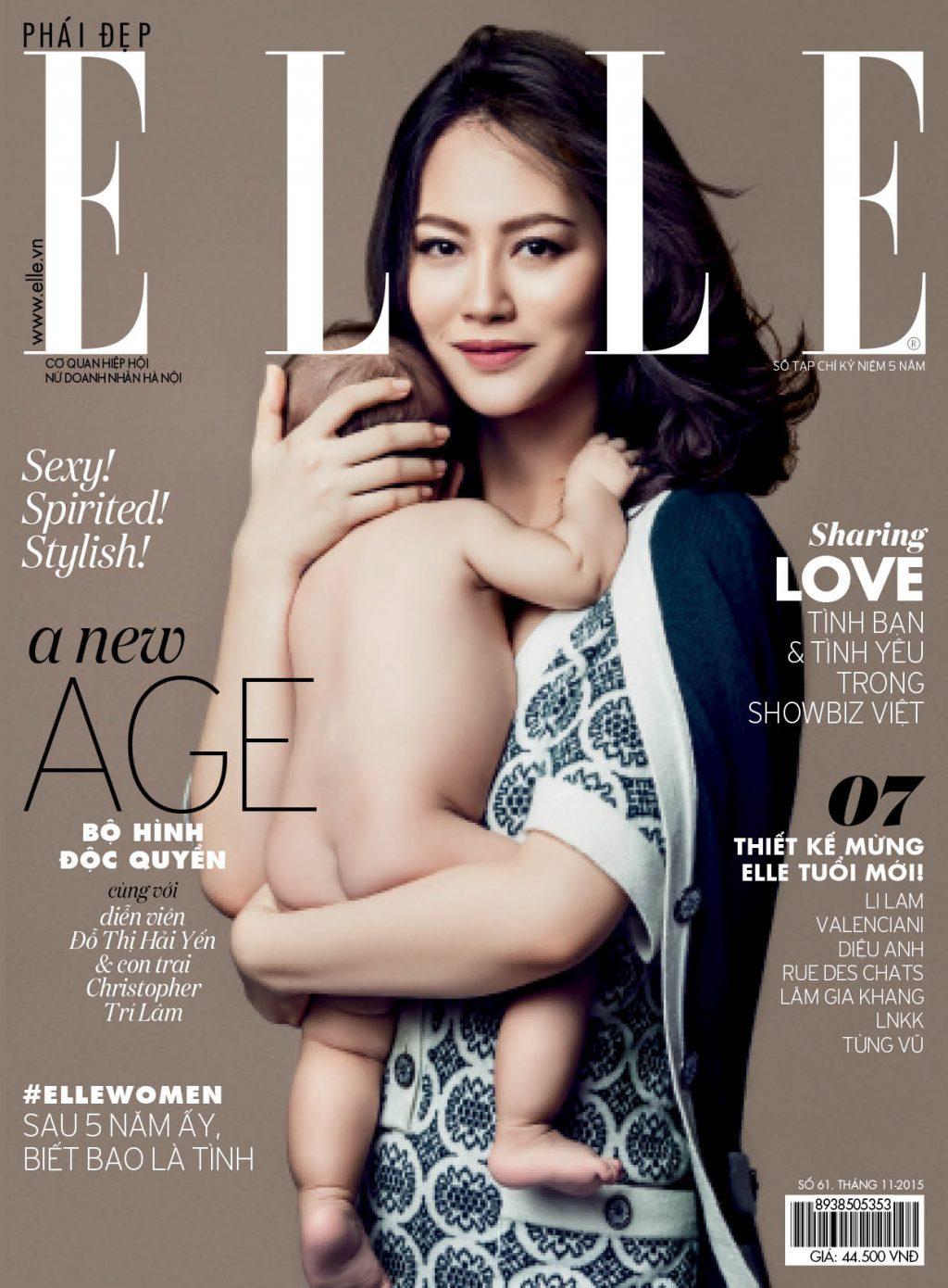 Trang bìa tạp chí mừng sinh nhật ELLE Việt Nam lần thứ 5