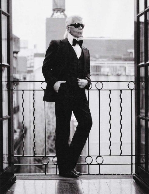 Hình ảnh hiện tại của nhà thiết kế lão làng Karl Lagerfeld