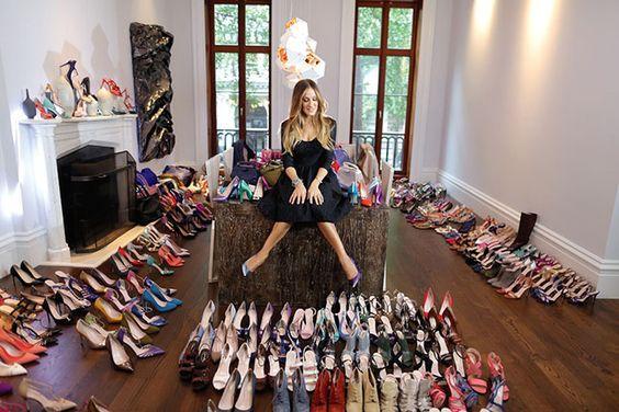 Ngôi sao Sarah Jessica Parker và thú vui sưu tập giày ELLE VN