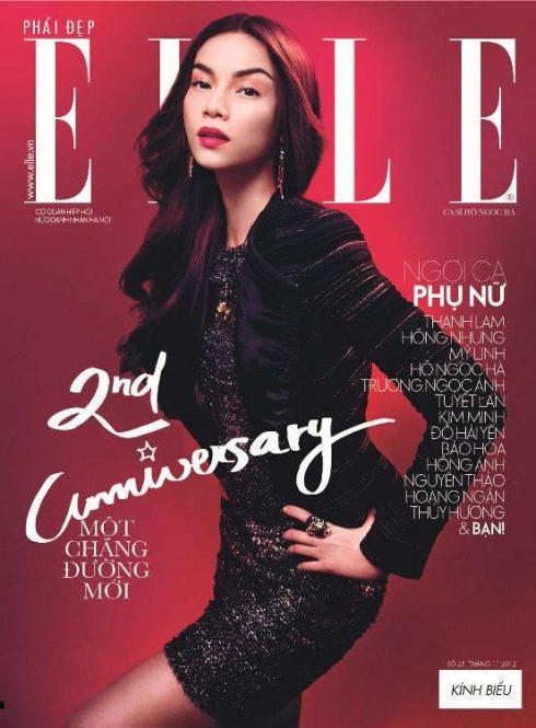 Trang bìa tạp chí mừng sinh nhật ELLE Việt Nam lần thứ 2