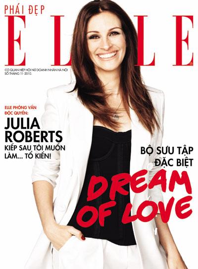 Trang bìa tạp chí ELLE số đầu tiên tại Việt Nam