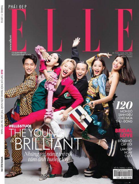 Trang bìa tạp chí mừng sinh nhật ELLE Việt Nam lần thứ 6