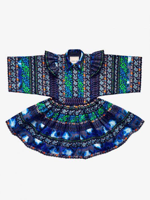 Váy hoạ tiết thổ cẩm Kenzo x H&M £199.99