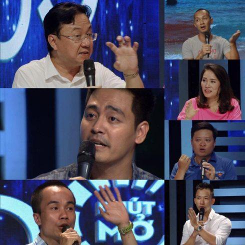 """MC Phan Anh bị các nhà báo công kích trong chương trình """"60 phút mở"""" chỉ vì hành động share clip cá chết."""