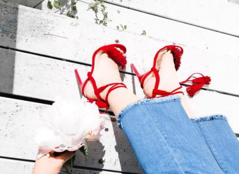 giày cao gót theo style hàn quốc