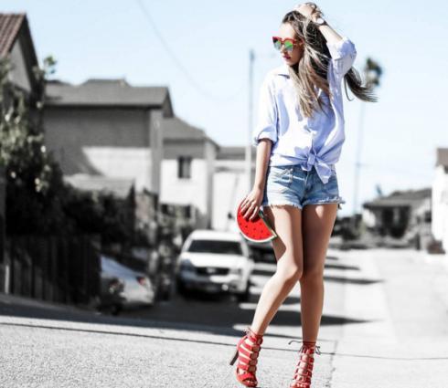 style hàn quốc với giày cao gót