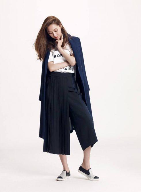 style hàn quốc với quần culottes
