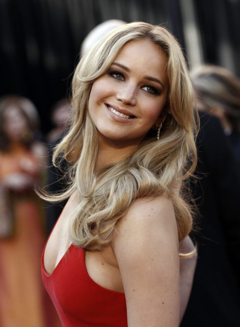 Actress Jennifer Lawrence arrives before the 83rd Academy Awards on Sunday, Feb. 27, 2011, in the Hollywood section of Los Angeles. (AP Photo/Matt Sayles)