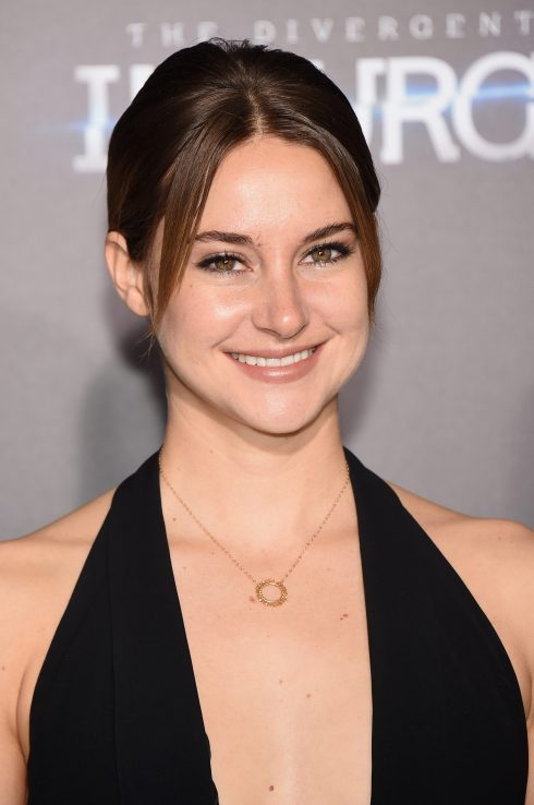 "NEW YORK, NY - MARCH 16: Actress Shailene Woodley attends ""The Divergent Series: Insurgent"" New York premiere at Ziegfeld Theater on March 16, 2015 in New York City. (Photo by Jamie McCarthy/WireImage)"