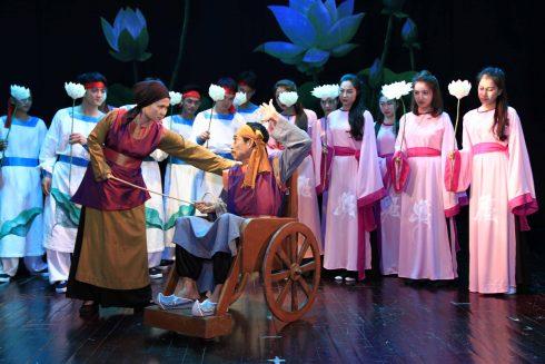 """Nhà hát Kịch Việt Nam dàn dựng vở """"Chuyện nàng Kiều"""" với nhiều lát cắt mới về nghệ thuật."""