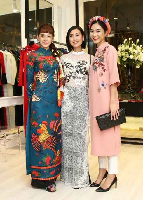 Diễn viên Kathy Uyên mặc áo dài NTK Thuỷ Nguyễn