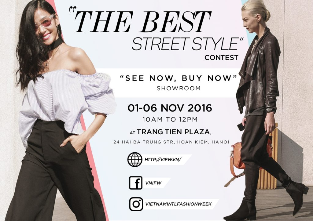 Bộ đôi Quán quân Vietnam's Next Top Model lựa chọn phong cách đối lập xuống phố trước thềm Vietnam International Fashion Week Thu Đông 2016