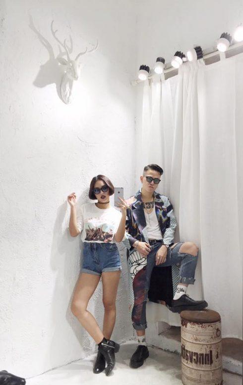 phong cách thời trang cặp đôi châu bùi cao minh thắng - elle vn