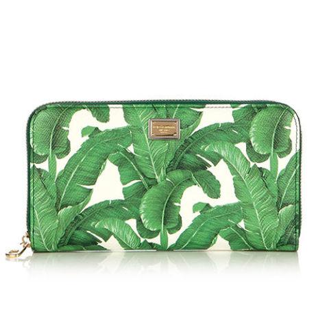 ví cầm tay nữ hàng hiệu Dolce & Gabbana Banana Leaf-Print