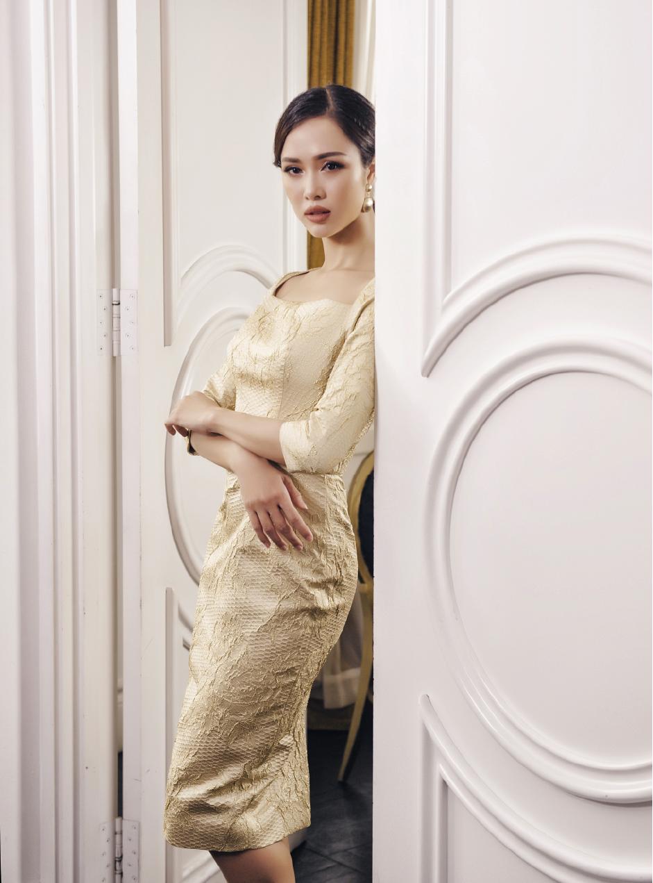 Vũ Ngọc Anh mặc thiết kế Lê Thanh Hòa - 05