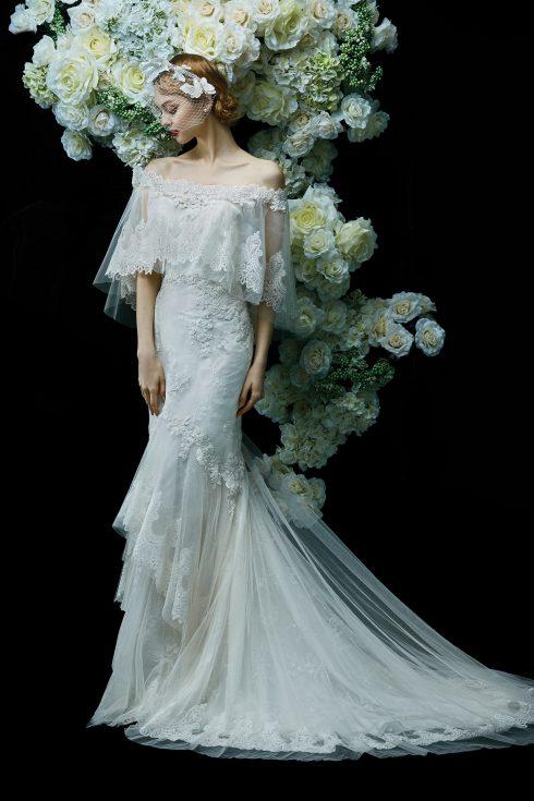 mẫu váy cưới đẹp trễ vai của Annasul Y.