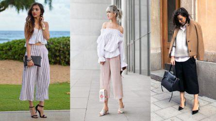 Quần lửng ống rộng mặc với áo gì thì thời trang nhất?