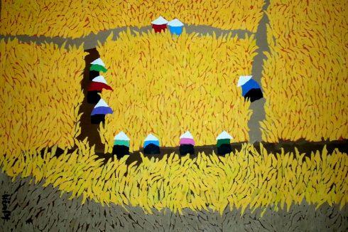 Bức tranh của họa sĩ Hoàng Thị Phương Liên