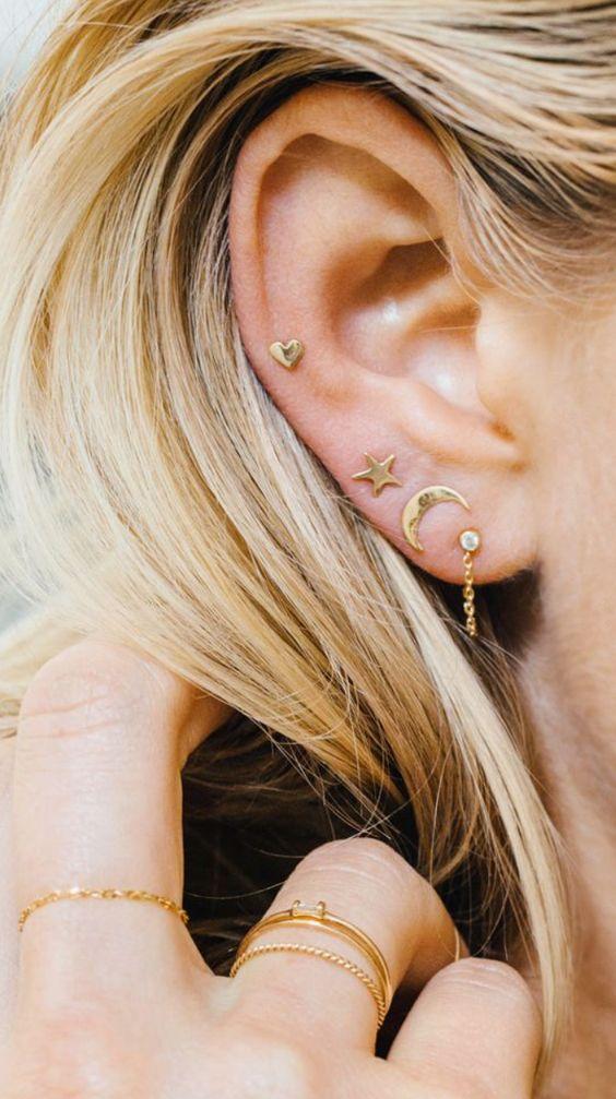 Xỏ lỗ vành tai - 10 kiểu xỏ lỗ tai được yêu thích - elle vn
