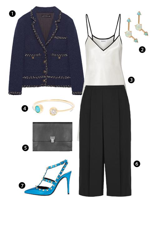 1. Zara, 2. Wwake, 3. DKNY, 4. Jennifer Meyer, 5. Proenza Schouler, 6. Alexander Wang, 7. Valentino.