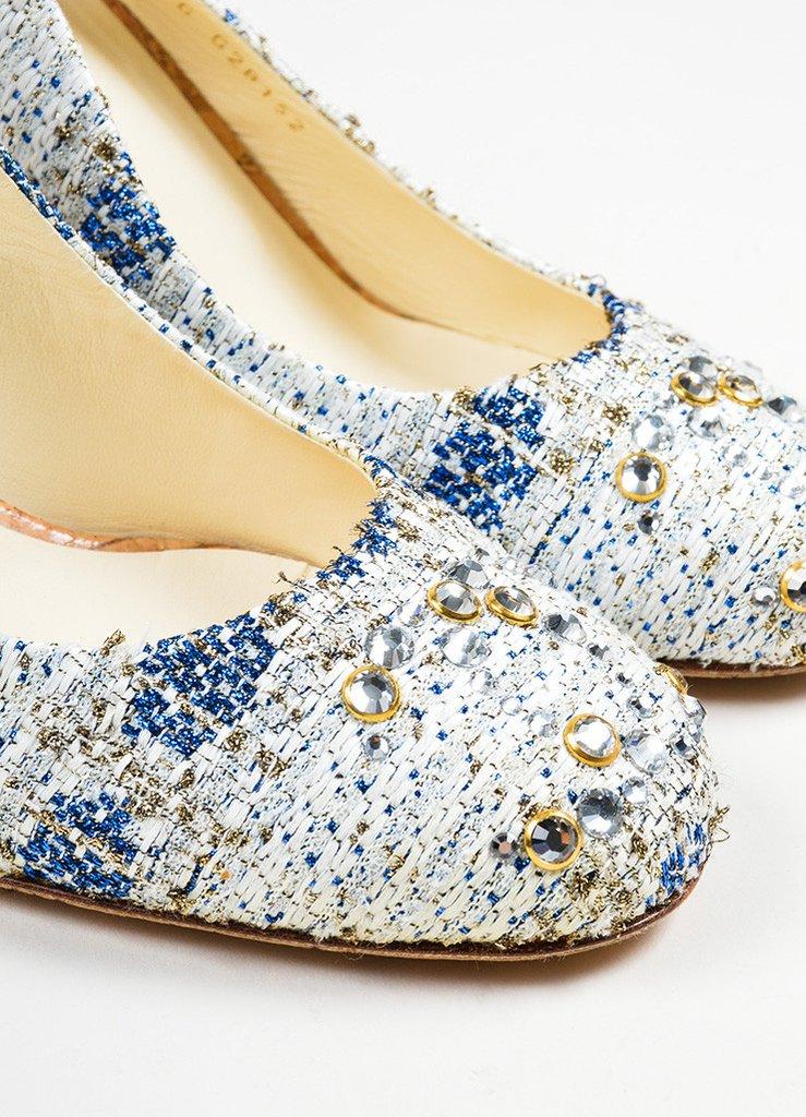 Vải tweed, chất liệu kinh điển trong mùa Thu-Đông: mẫu giày cao gót đẹp,