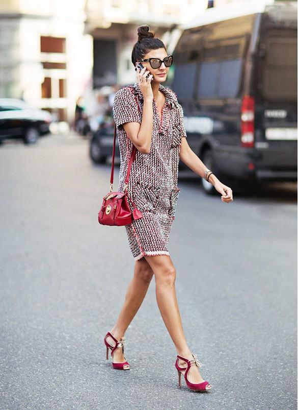 Vải tweed, chất liệu kinh điển trong mùa Thu-Đông: đầm đẹp