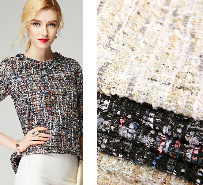 Vải tweed, chất liệu kinh điển trong mùa Thu-Đông: các loại vải