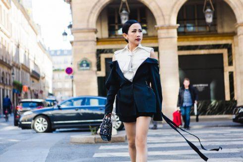 Những bộ trang phục ấn tượng của Trâm Nguyễn trên đất Pháp