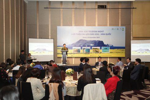 Tại sự kiện ra mắt, hội thảo quảng bá du lịch Jeju cũng đã